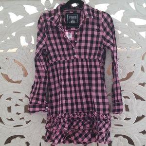 Pink Shirt Dress/Top